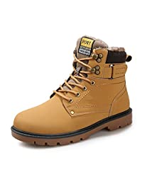 Boots Snow Sneakers Men Women Shoes Outdoor Winter Ankle Fur Lined Warm Waterproof Booties Anti-Slip…