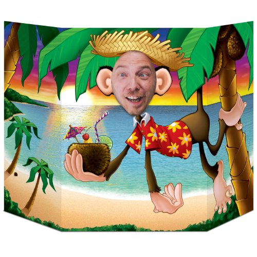 Luau Monkey Photo Prop Party Accessory (1 count) (1/Pkg) ()
