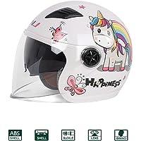 KuaiKeSport Half-Helmet Casco De Moto Scooter Niño,Carretera Moto