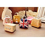 LUQUAN 4Pcs/Lot Creative Handbag Shaped Mini Storage Peninsula Cartoon Cute Small Tin Candy Box Coin Box Jewelry Organizer Coin Bag-Style Random