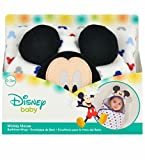Disney Baby Mickey Mouse Embroidered Hooded Bath Swaddle, White, Blue, Red, Grey, 24.5''L X 12''W