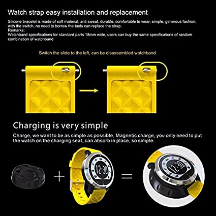 yikeshu F69 Sport Smart Watch Waterproof Bluetooth Fitness ...