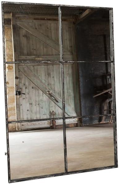 POMAX pib - Espejos - Espejo Estilo Industrial de 6 Secciones, Versión de 6 Secciones del Espejo Cuadrado Largo: Amazon.es: Hogar