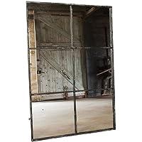 Miroir Fenêtre 6 Divisions en Métal Effet Vieilli