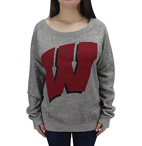 (Royce Apparel Pressbox Women' s NCAA Wisconsin Badgers Long Sleeve Sweat Shirt W)