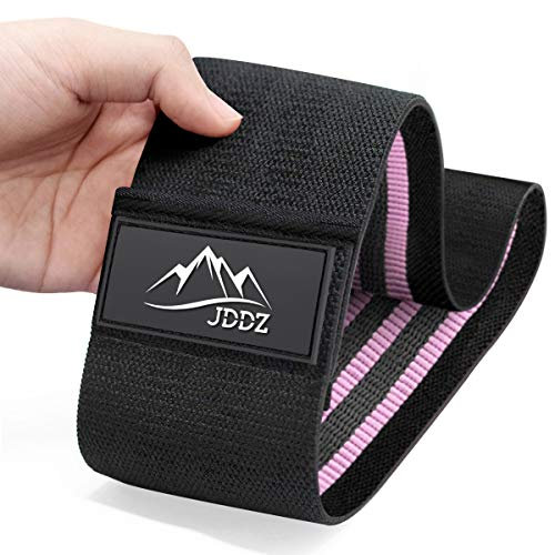JDDZ Hip Bands Booty Workout Resistance Loop Bands, Resistance Exercise Fitness Bands, Anti Slip Fabric Elastic Sports Bands for Legs and Butt (2019 Upgraded)