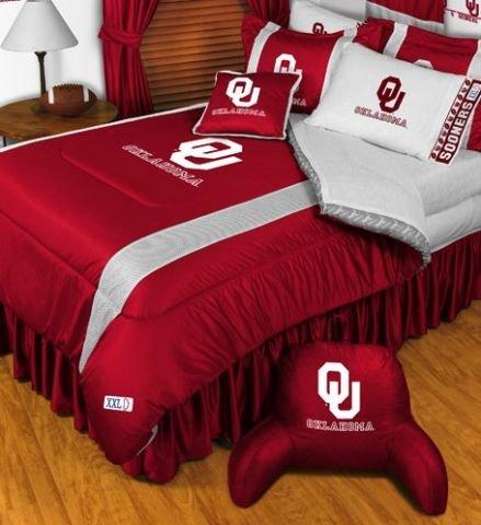 Oklahoma Sooners NCAA Bedding - Sidelines Complete Set - Twin w/ 1 ()