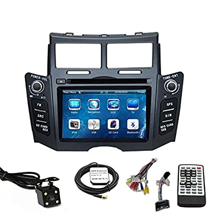 Car Stereo DVD Player for Toyota Yaris 2007 2008 2009 2010 2011 Double Din 6.2 Inch