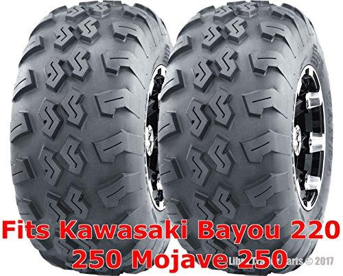 (Sport ATV Tire Set 22x10-10 22x10x10 for Kawasaki Bayou 220 250 Mojave 250 rear)