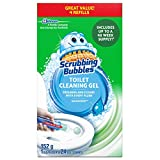 Scrubbing Bubbles Fresh Gel Toilet Cleaning Stamp, Rainshower Scent, Dispenser with 24 Gel Stamps