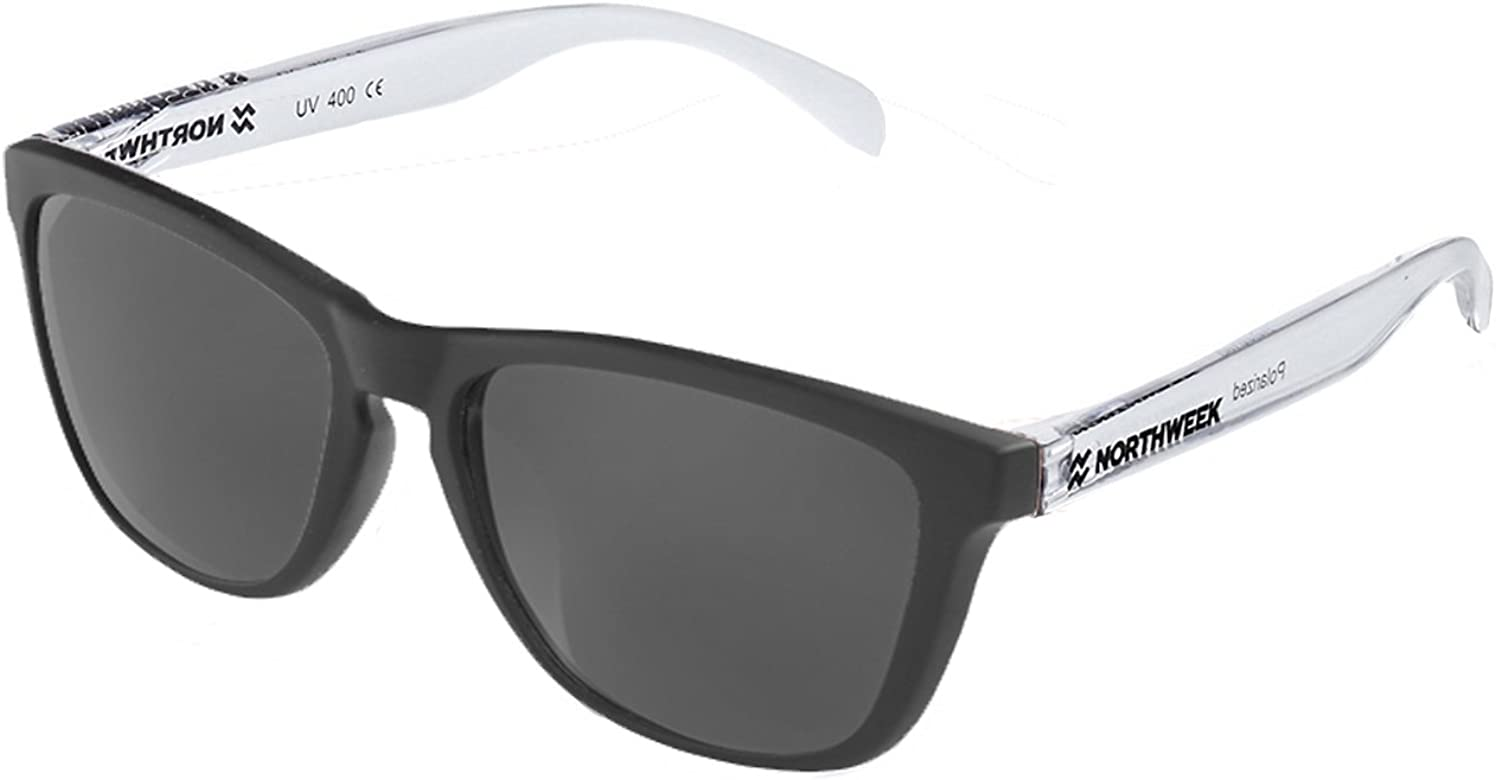 NORTHWEEK Gafas de sol unisex Black matte| Bright white ...