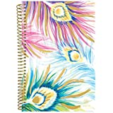 """Bloom Daily Planners 2018-2019 Academic Year Day Planner - Monthly/Weekly Calendar Book - Inspirational Dated Agenda Organizer - (August 2018 - July 2019) - 6"""" x 8.25"""" - Peacock Feathers"""