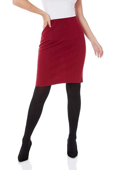Roman Originals Falda elástica para Mujer, para Trabajo, Negocios ...