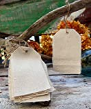 AK-Trading 2 3/4'' x 4 3/4'' Natural Canvas Creative Tags with Jute Twine - Pack of 12