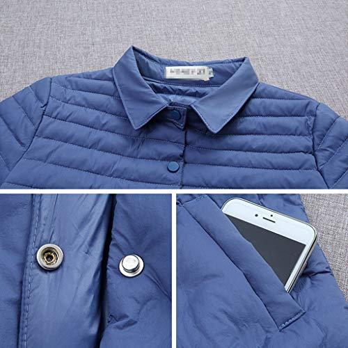 Invierno Las Larga Azul Delgada Sección Abajo De Mujeres S Prueba Chaqueta Moda La Elegante color A Viento Azul Algodón Tamaño Nz qTSZYxPw