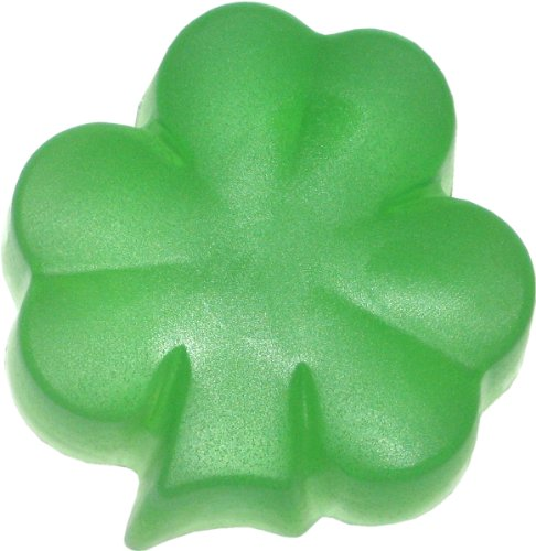 Shamrock Soap, Four Leaf Clover, Clear Green (Soap Shamrock)