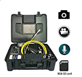 GOWE UnderWater Sewer Drain Wall Snake Pipe 30M Pipeline Endoscope Inspection Camera 8