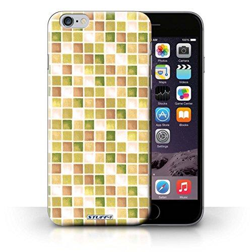 Hülle Case für iPhone 6+/Plus 5.5 / Gelb/Braun Entwurf / Bad Fliesen Collection