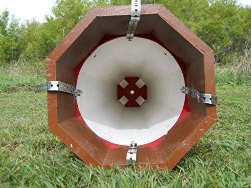 Solar Lighthouse Wooden Well Pump Cover Decorative Garden Ornament