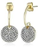 10K Yellow Gold Diamond Round Earrings (1/2 cttw)