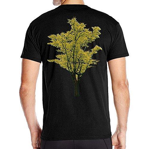 Mens Autumn Deciduous Trees Mirror Me Fashion Tee Black Size 3X