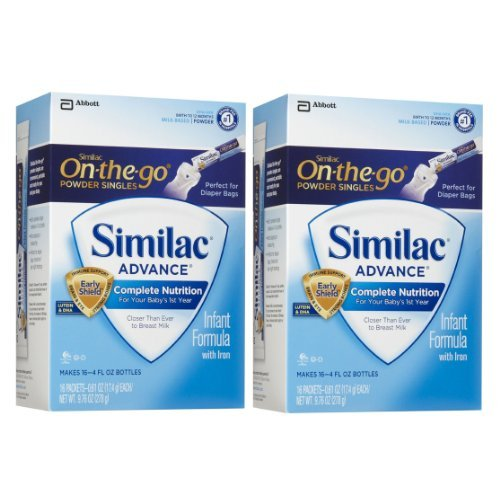 Similac Advance Powder Sticks, 16 count (Pack of 2)