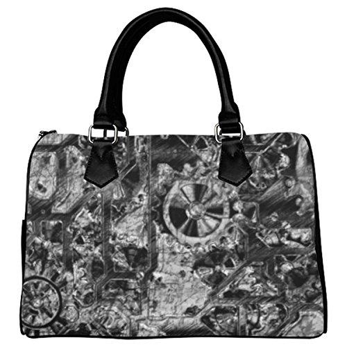 Jasonea Women Boston Handbag Top Handle Handbag Satchel Metal Steampunk Basad163586
