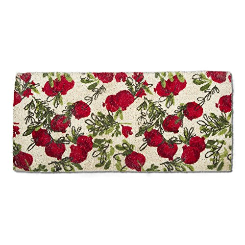 tag - Pomegranate Estate Coir Mat, Decorative All-Season Mat for The Front Porch, Patio or Entryway, - Tag Coir Mat