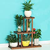 AMour Light Solid Wood Flower Stand Shelf Multi-storey Wooden Flower Pots Frame Shelf Balcony Indoor And Outdoor Bonsai Frame