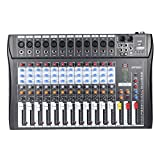 ammoon 120S-USB 12 Channels Mic Line Audio Mixer Mixing Console...