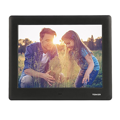 TENKER 7-inch HD Digital Photo Frame IPS LCD Screen with Auto-Rotate/Calendar/Clock Function, MP3/Photo/Video Player with Remote Control (Black) from TENKER