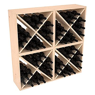 Amazon.com: Wooden 96 Wine Bottle Wine Box Storage Cubes Collection (4 Cubes    Ponderosa Pine)