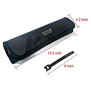 YSTYLER Heat Resistant Bag for Hair Straightener (Black)