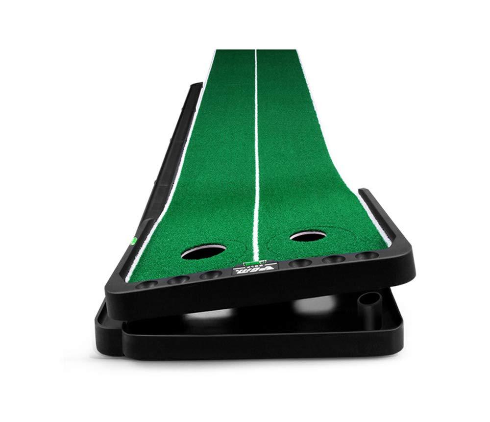 ゴルフ 初心者 練習 Putt Trainerの屋内バレエ調節可能な斜面ベルトのリターンチャンネル50 * 300CM  GrassMat B07PFFF68J