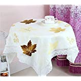 GYMNLJY Tablecloth Home Pure cotton Refrigerator More tea-towel Purple Green Yellow Gray Microwave Universal cover towel , yellow , 100*100cm
