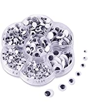 KUUQA 500 Pieces Mixed Wiggle Googly Eyes Self-adhesive DIY Scrapbooking Crafts Toy Accessories (Assorted Sizes)