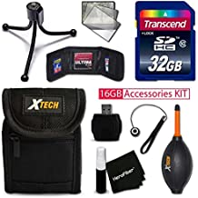 IDEAL 32GB Accessories KIT for Samsung WB350F, WB50F, WB35F, Galaxy Camera 2, WB800F, WB250F, WB30F, DV150F, ST150F, WB850F, WB150F, ST76, ST200, ST66, DV300F,WB750F Includes: 32GB Memory + Case +MORE