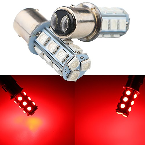 - Grandview Red 1157 BAY15D Base Brake LED Bulb 5050 18SMD LED Replacement Bulb RV SUV MPV Car Turn Tail Signal Brake Light Lamp Backup Lamps Bulbs Exterior (Pack of 2)
