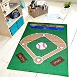 All Stars Baseball Ground Kids Rug Size 33