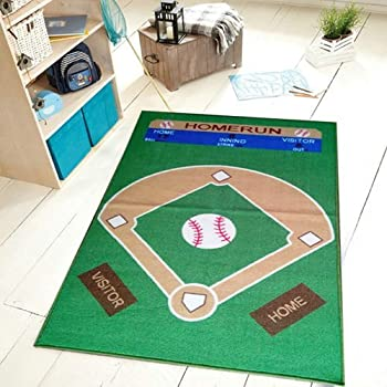 Amazon Com Fun Rugs Ft 122 3958 Baseball Field Childrens