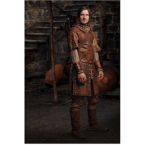 Camelot (TV Series) 8x10 Photo Clive Standen Full Body Brown Leather ()