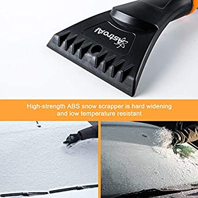 """AstroAI 2 Pack 27"""" Snow Brush and Detachable Deluxe Ice Scraper with Ergonomic Foam Grip for Cars (Heavy Duty ABS, PVC Brush): Automotive"""