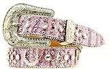 M&F Western Girls' Horseshoe Belt (Little Big Kids), Pink, 24