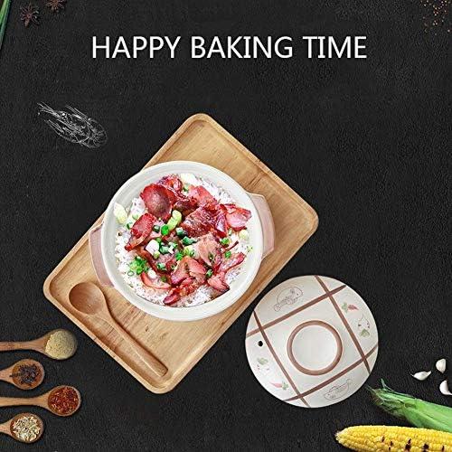 weiwei Casserole Dishe,Céramique Casserole Pot à Soupe Ustensiles de Cuisine Ustensiles de Cuisine en céramique Haute température de Haute qualité(Taille:1000ML)