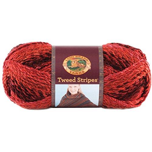 Lion Brand Yarn 753-202AB Tweed Stripes Yarn, Mixed (202 Yarn)