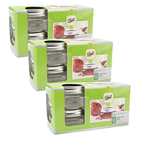(Ball Collection Elite Half Pint Jars, Wide Mouth, Set of)
