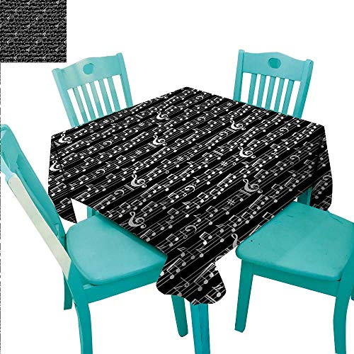 Music Elegance Engineered Christmas Tablecloth Musical Notes and Clef Figure Sheet Pattern in Artistic Abstract Style Print Runners,Gatsby Wedding,Glam Wedding Decor,Vintage Weddings 54