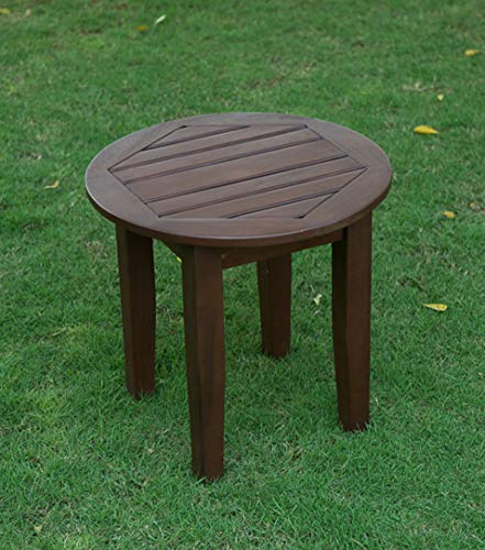 Cambridge-Casual AMZ-180590N Bentley Round Side Table, Round Side Table, Natural ()
