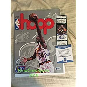 Autographed Signed Gary Payton Hoops Magazine With Tic Beckett Authentic COA Sonics Nba Hof