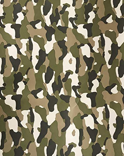 Green Camouflage Christmas Gifting Camo Holiday Gift Wrapping Paper 2.5' x 12' -